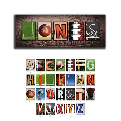 cool gifts for football fans personalized football name art great gifts for football fans