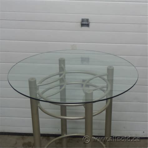 glass top bar height table glass top bar height bistro table allsold ca buy