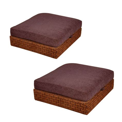 hassocks ottomans milo baughman for thayer coggin storage hassocks at 1stdibs