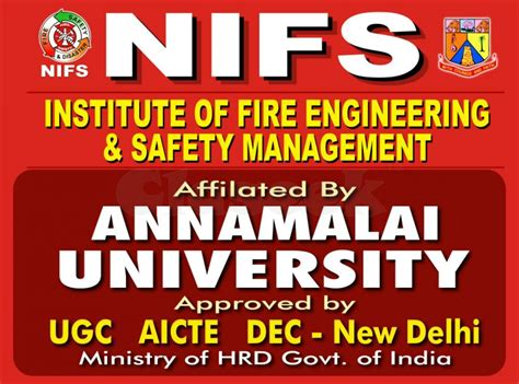 Mba In Safety Management Annamalai by Annamalai Nifs Engineering Safety