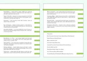 Menu Template For Mac by Restaurant Menu Templates Free Mac