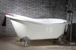 61 quot cast iron slipper clawfoot tub w imperial