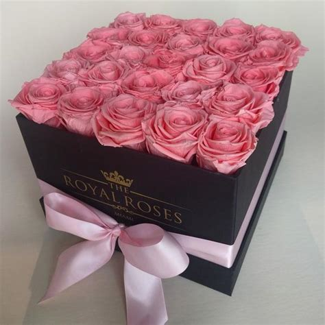 Bloom Box Big Pink Preserved Flower Best For Gift square preserved box the royal roses cayman