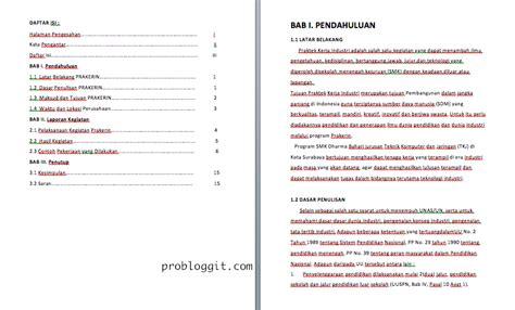 membuat makalah prakerin contoh cara membuat daftar isi makalah ternyata kabar viral