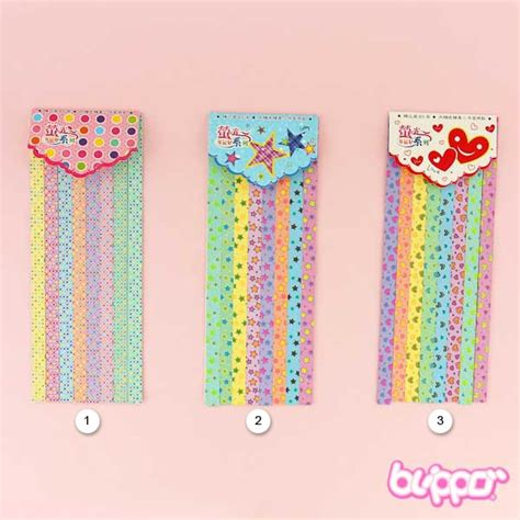 Neon Origami Paper - neon colours lucky origami paper set blippo kawaii shop