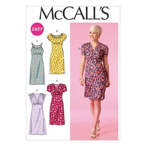 mccall s mccall s pattern m7116 misses dresses easy weaverdee com