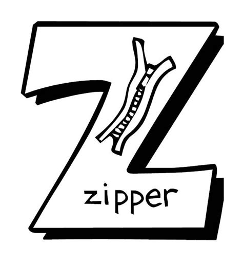 coloring page zipper zipper coloring page coloring pages