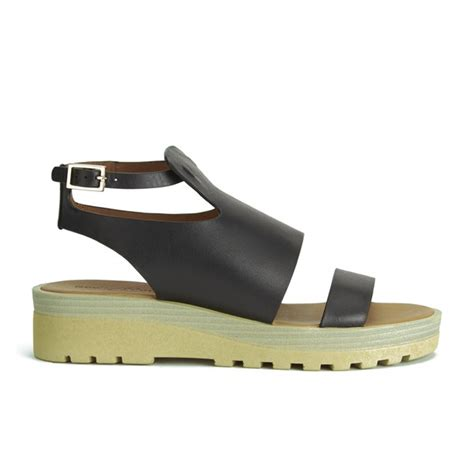 see by sandals see by chlo 233 s leather flat sandals black free