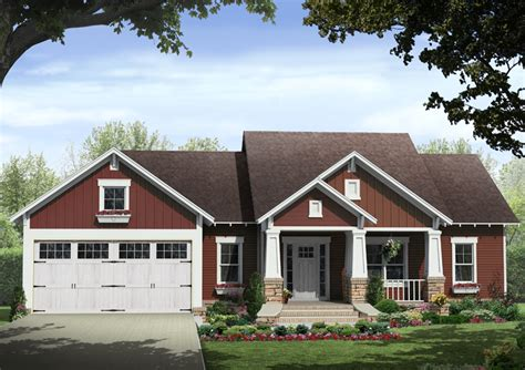 leaf craftsman ranch home plan 077d 0213 house