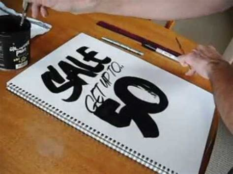 Cat Roundhand 1 roundhand lettering demo by glen weisgerber funnycat tv