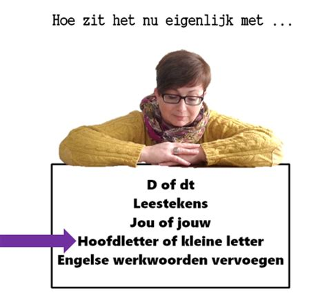 College Met Kleine Letter Of Hoofdletter Trigger Tekst Hoofdletter Of Kleine Letter