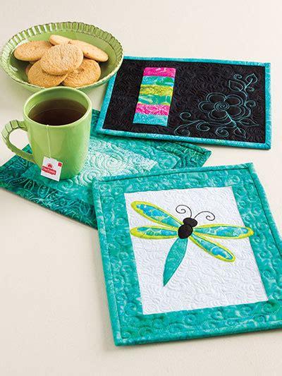 mug rugs to make learn to make quilted mug rugs pinteres