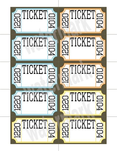 ticket template printable ticket raffle templates on search