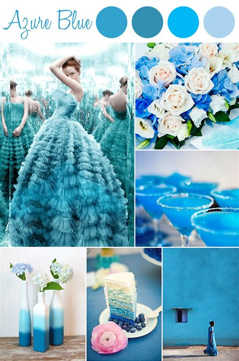 6 shades of blue wedding color ideas and wedding invitations