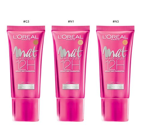 L Oreal Mat Magique l oreal make up designer mat magique liquid foundation 30ml 5 types to choose hermo