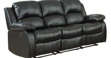 Best Leather Recliner Reviews by The Best Reclining Sofa Reviews Rotunda Black Faux