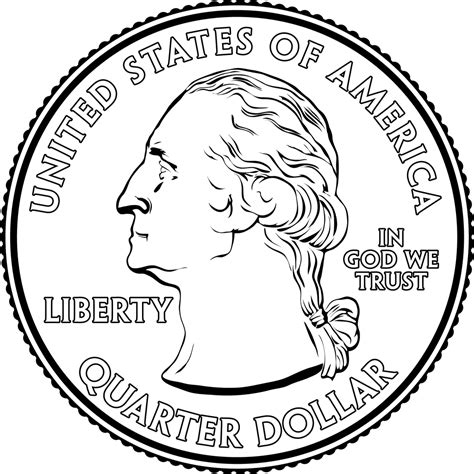 Quarter Clipart portrait on a quarter clipart etc