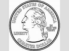 Portrait on a Quarter | ClipArt ETC Quarter Clipart