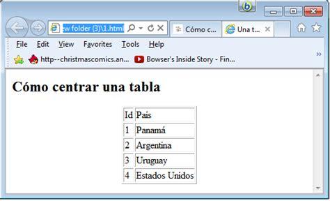 imagenes html centrar c 243 mo centrar una tabla en html la escuela del programador