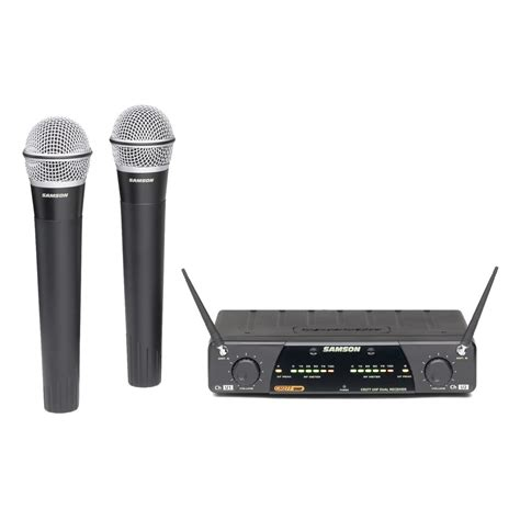 Samson Concert 288 Handheld Dual Channel Wireless System Isi 2 Mic samson concert 277 q7 dual channel handheld wireless system at gear4music
