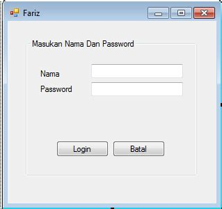 membuat form login vb 2010 dengan database access fariz setiawan membuat form login vb net dengan database