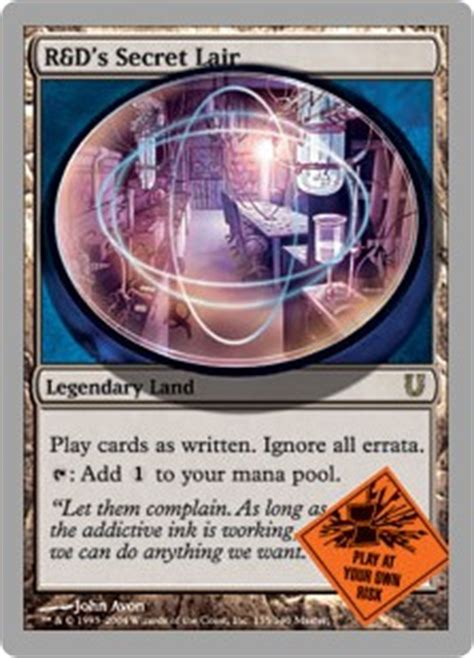 rds secret lair unhinged gatherer magic  gathering