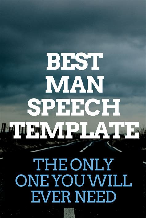 Best Man Speech Template The Only One You Will Ever Need