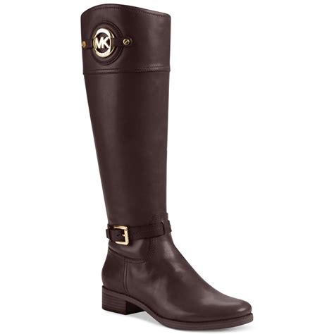 michael kors boots michael kors stockard boots in brown coffee lyst