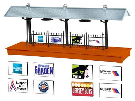 30169 new jersey transit ready to run set nj transit station platform