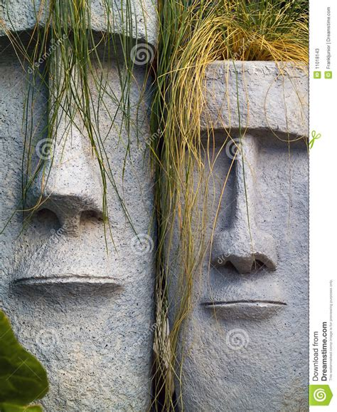 Easter Island Planter by Easter Island Planters Stock Photos Image 11018143