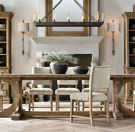 restoration hardware trestle table favorite farmhouse trestle tables progress on our