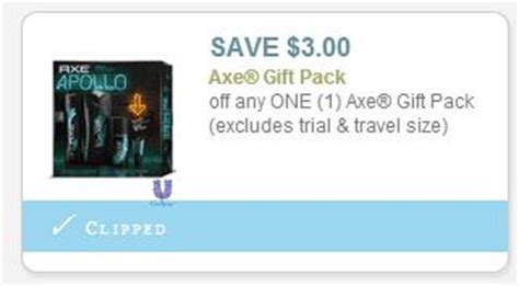 3001 axe gift set printable coupon new 3 off axe gift pack coupon print now frugal living nw