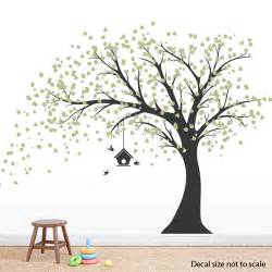 pin family tree wall decal large nursery wall decal wall free shipping extra large green tree birds removable wall