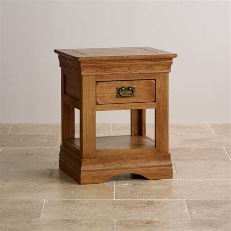 Top Drawer Solid Oak by Farmhouse Bedside Table In Rustic Solid Oak