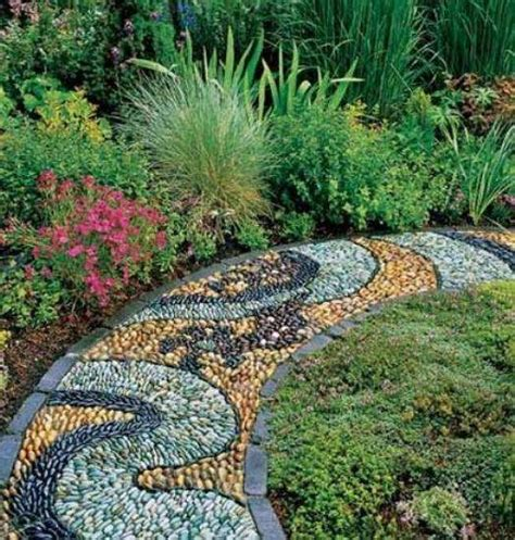 Pebble Rock Garden Designs Must See Outdoor Landscape Mosaic Ideas Mozaico
