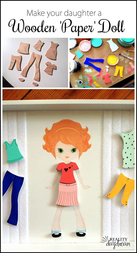 How To Make A Doll Using Paper - diy wooden paper dolls a tutorial reality daydream