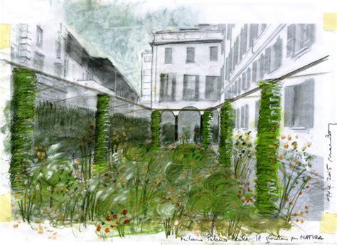 giardino romano viridarium al palazzo reale di un percorso verde