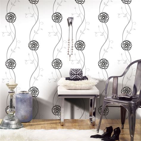 jual wallpaper bunga jual wallpaper dinding bunga simple minimalis black