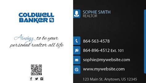 coldwell banker business card template coldwell banker business cards 04 coldwell banker