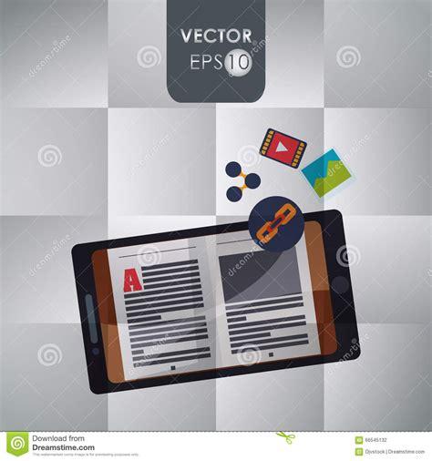 icon design ebook ebook icon design stock vector image 66545132