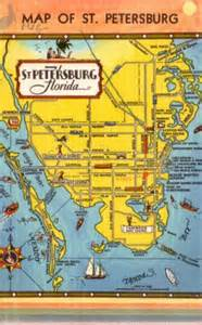 map of st petersburg florida fl tourist attractions 1948