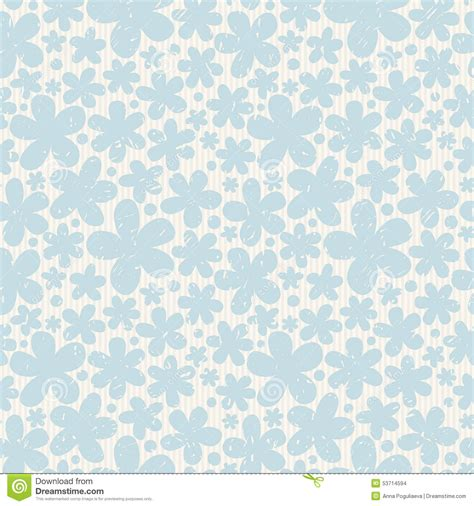 pattern background light blue blue floral seamless pattern on light background stock