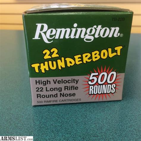 remington thunderbolt 22 ammo armslist for sale remington 22 thunderbolt 500 round