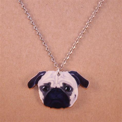 pug necklace uk pug necklace acrylic charm animal lover canine fan kitsch crufts ebay