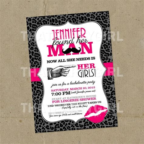 Handmade Bachelorette Invitations - bachelorette invitations diy digital file u print