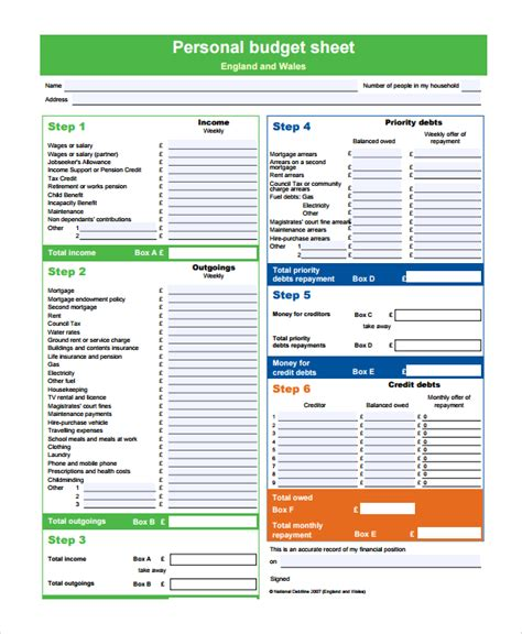 25 Budget Templates Sle Templates Detailed Budget Template