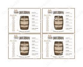 bourbon rating sheet bourbon score card bourbon party