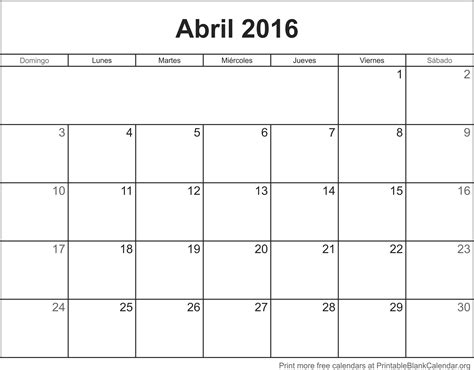 Calendario Progresar Mes Abril 2016 | calendario abril 2016 para imprimir calendarios para