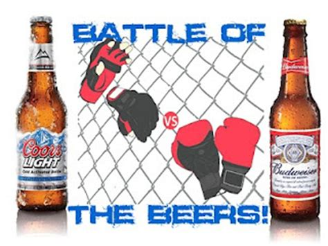 Bud Light Vs Coors Light by Battle Of The Beers Coors Light Silver Bullet