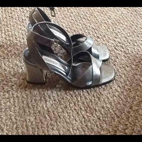 pewter color sandals 5 5 from helen s closet on poshmark